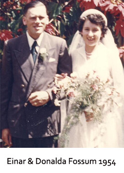 Fossum Wedding 1954